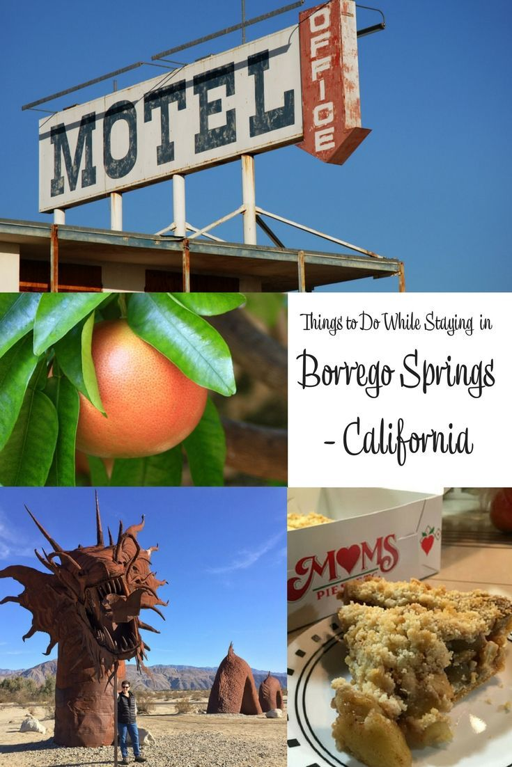 A list of things to do in the Borrego Springs either in town or not too far away. Food, visits and offroad activities. #VisitCalifornia. Things to do in California. Things to do in Borrego Springs.