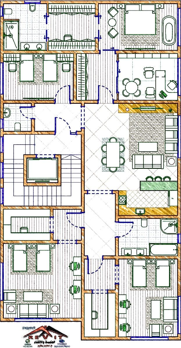 مخطط دور اول علوي لفيلا جميل و مميز من اعمال ايجي ريفيت In 2021 Interior Architecture Drawing Architecture Drawing Interior Architecture