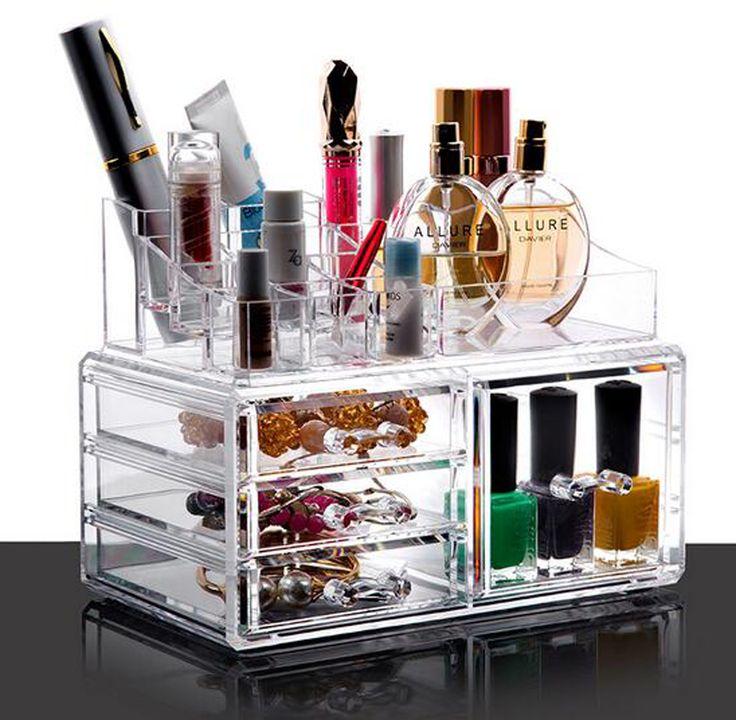 PuTwo Makeup Organiser Lipstick Holder 4 Drawers Make Up Storage