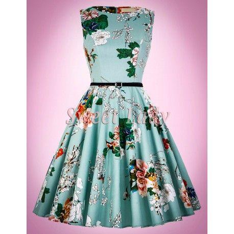 Krásne retro šaty s kvietkami