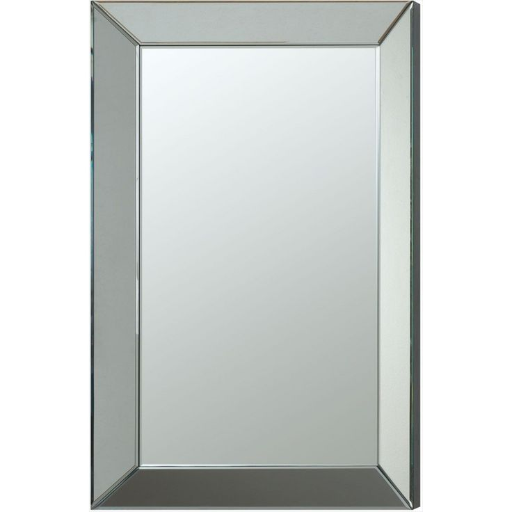 sleek and simple frameless beveled mirror will bring a modern style to your home