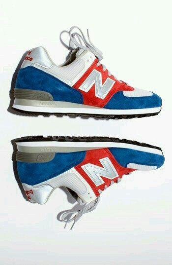 new balance 574 white blue red horizontal flag