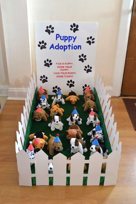 Adoption center Paw Patrol birthday party! See more party ideas at CatchMyParty.com!