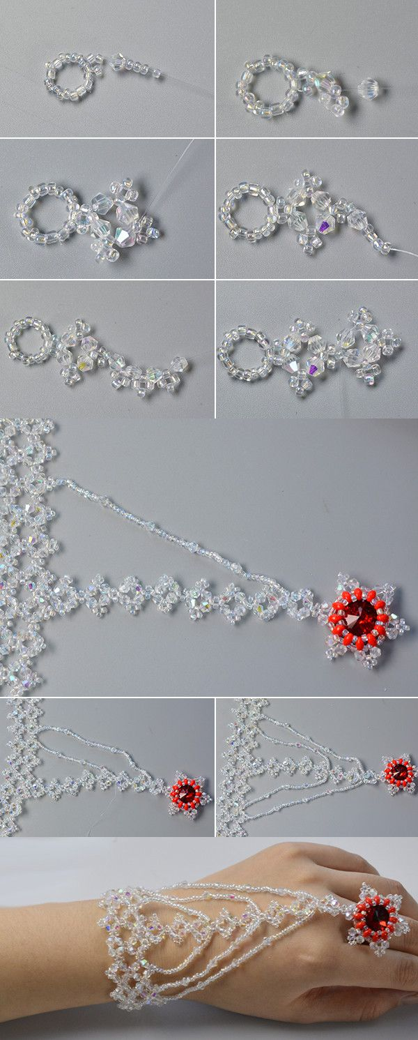 Like the crystal flower bracelet?The tutorial will be published by LC.Pandahall.com