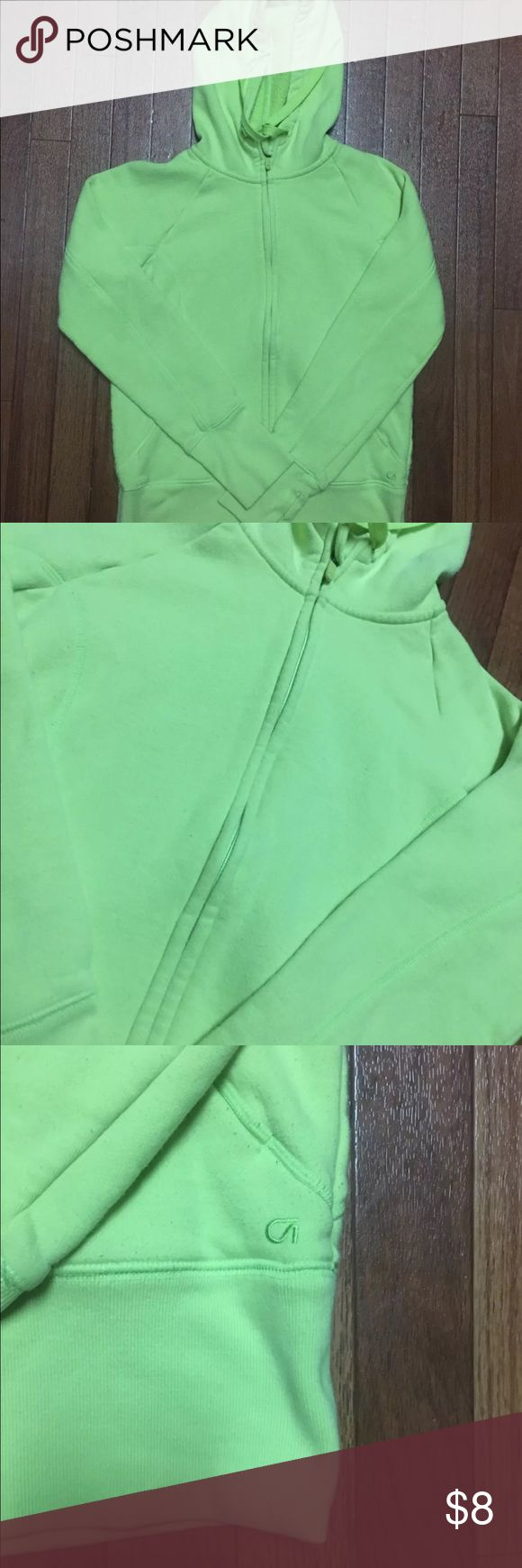 Gap Fit women's zip up hoodie Gap Fit women's zip up hoodie. Mock neck. Size S. color lime green GAP Tops Sweatshirts & Hoodies
