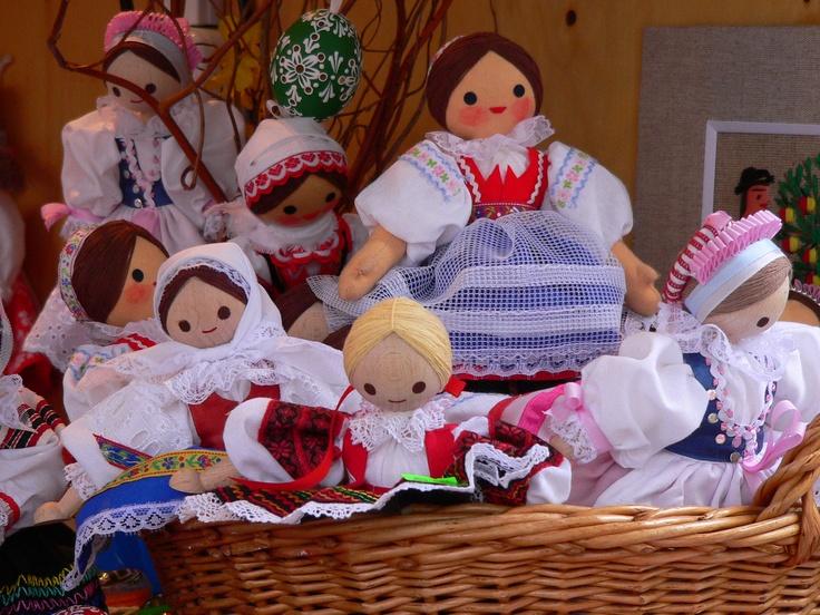 Pretty maids all in a row. Bratislava Easter Market, Slovakia