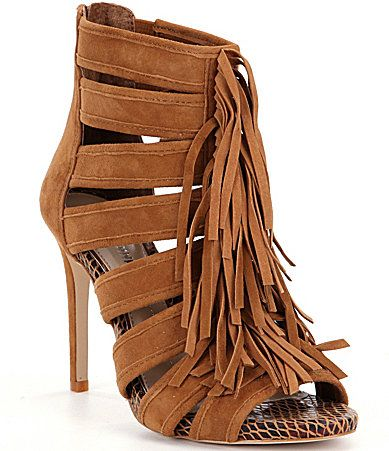 Gianni Bini Saleemah Fringe PeepToe Pumps #Dillards