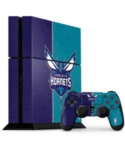 Charlotte Hornets Canvas PlayStation Gaming Skins