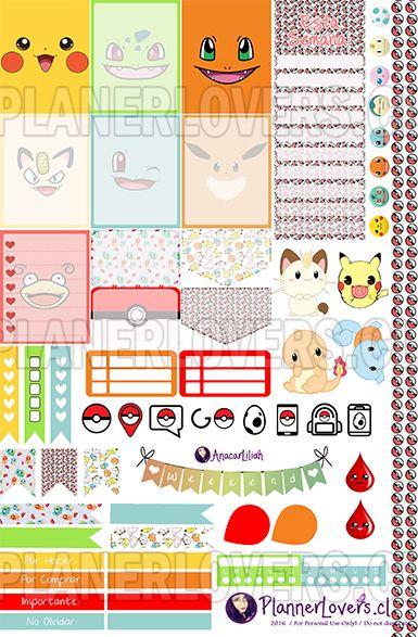 Pokémon Go – Stickers Semanales Imprimibles