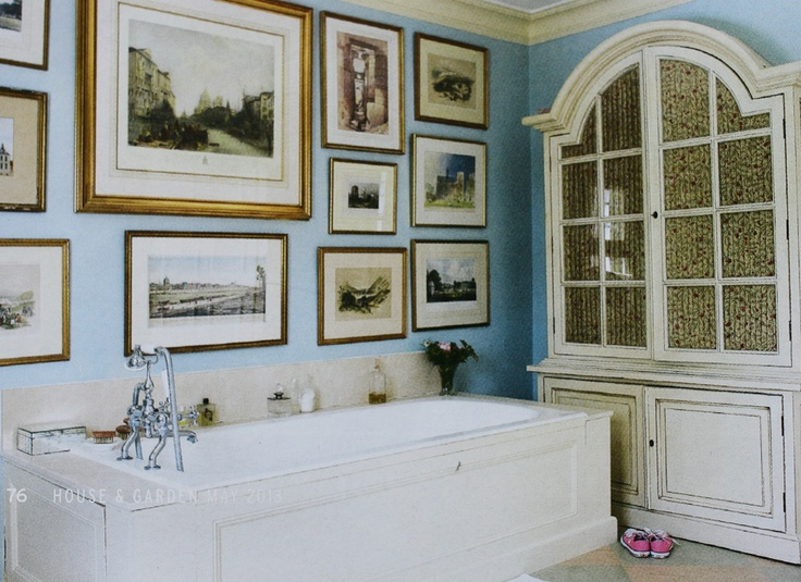 English Country Bathroom From The May Issue Of House Garden Showing