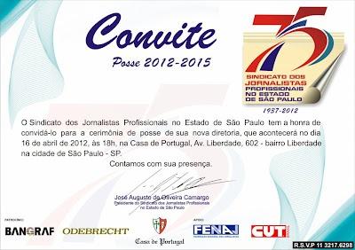 Cerimônia de Posse - Sindicato dos Jornalistas Profissionais no Estado de São Paulo