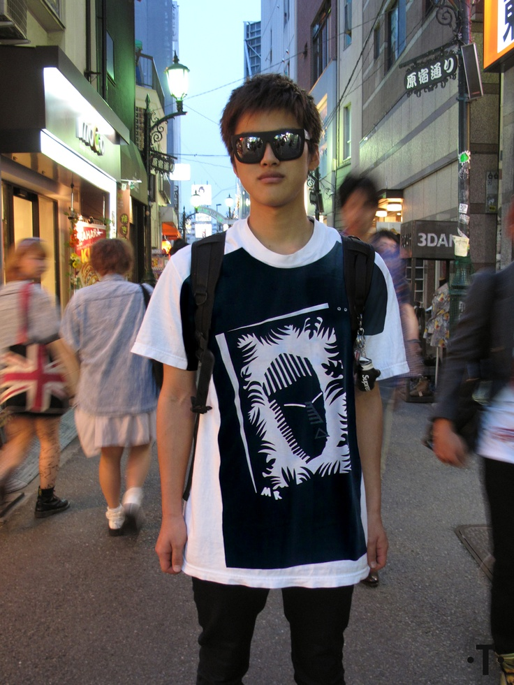 Keisuke from Japan wearing Michael Roberts for ONETSHIRT collection