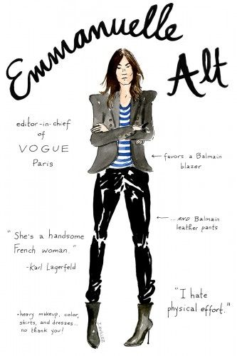 Fashion editors get the doodle treatment! Illustrations by Joana Avillez | The House of Beccaria#