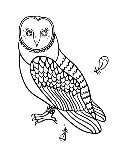 Printable Owl Coloring Page Free PDF Download At