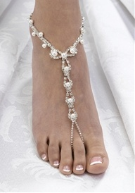 Pearl/Rhinestone Foot Jewelry  Perfect for my beac