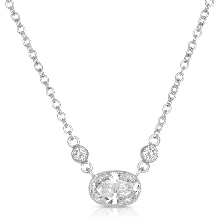Eloquence 18k White Gold 5/8ct TDW White Diamond Necklace (H-I, SI1-SI2) | Overstock.com Shopping – The Best Deals on Diamond Necklaces