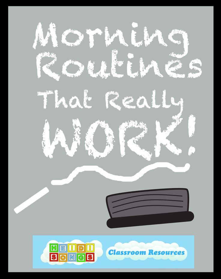 Morning routines that really work for Pre-K & Kindergarten!  Great tips for classroom management here!