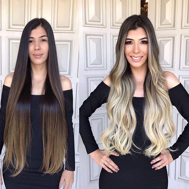 Que tal este antes e depois por @glayda para @trusshair com #8XPowderTRUSS para proteger e #AirLibreTRUSS para as mechas?!? | Cabelo | Pinterest | Hair, Balayage and Hair inspo
