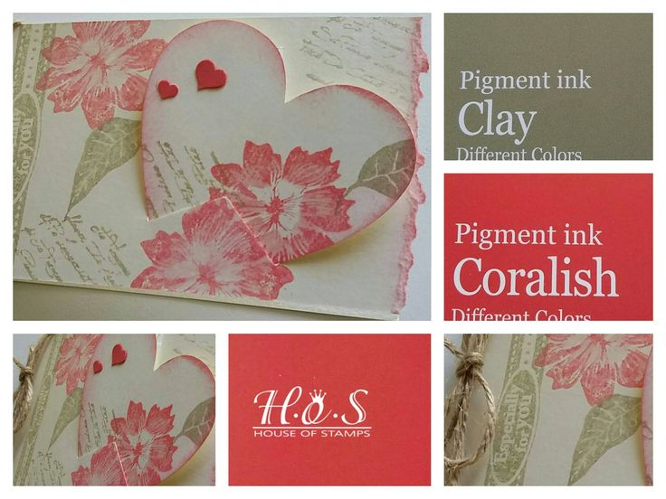 Different Colors Stempel   Valentine Wishes Www.houseofstamps.de