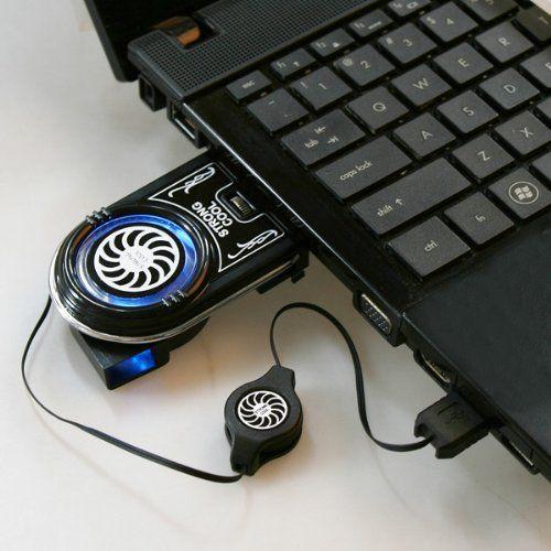 douself Mini Vacuum blu LED USB Air Estrazione raffreddamento Ventola di raffreddamento per computer portatile notebook: Amazon.it: Informatica