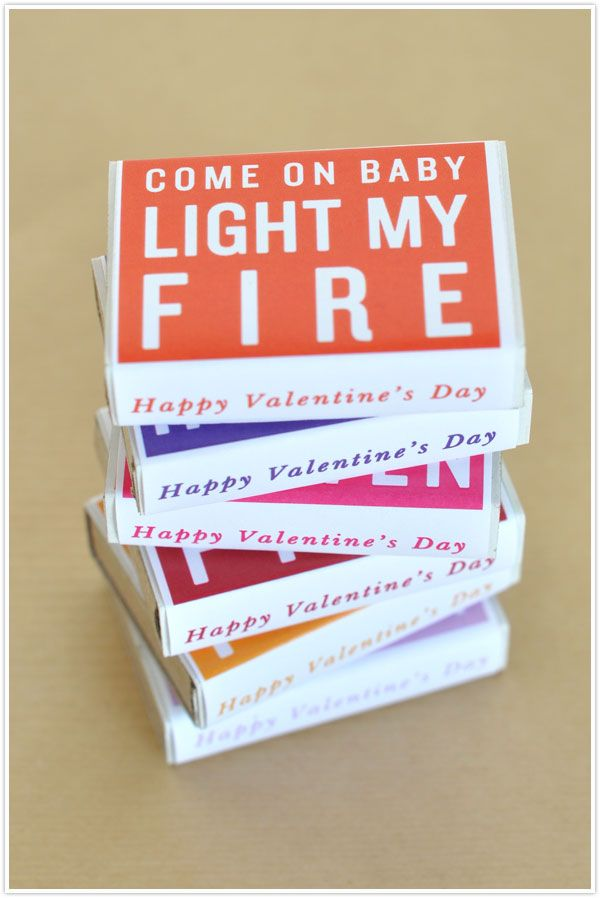 DIY matchbox wraps for Valentine's Day