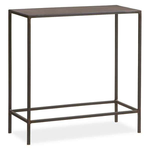 Slim end tables in natural steel chairs natural and for Slim side table