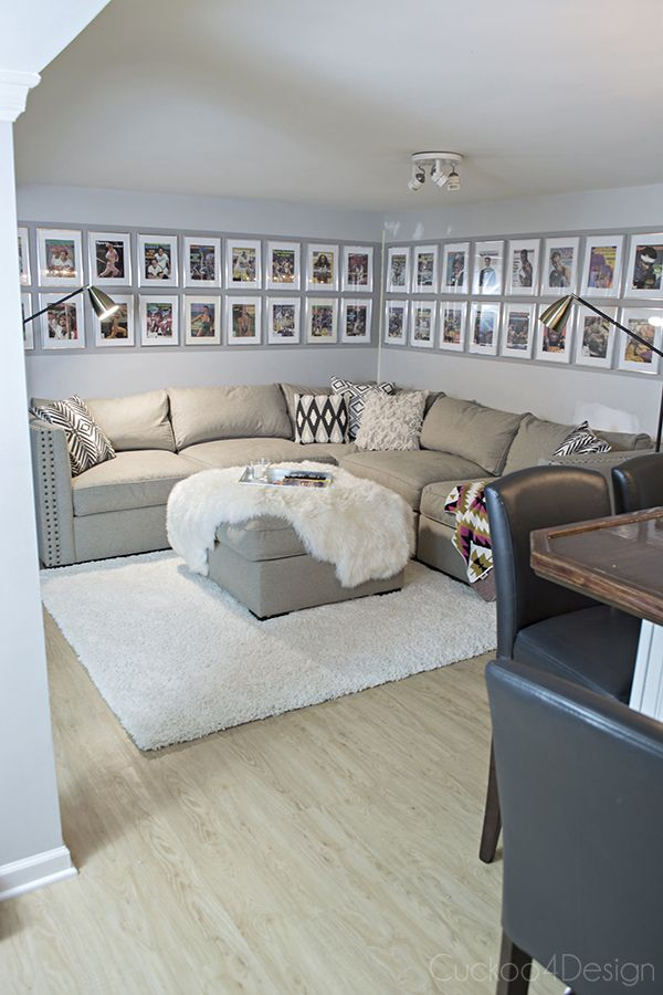 Man-cave makeover with Sports Illustrated collection and new @amsigfurniture sectional - Cuckoo4Design
