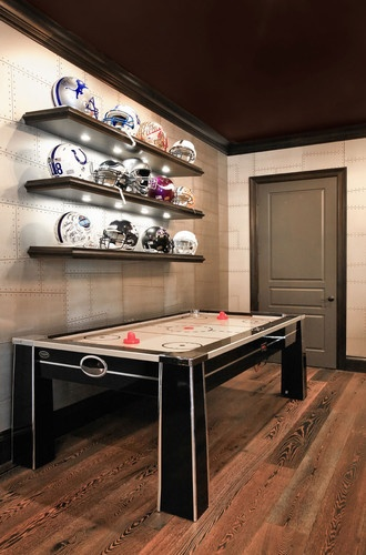Man Cave With Limited Space : Man cave air hockey space idea mighty ducks