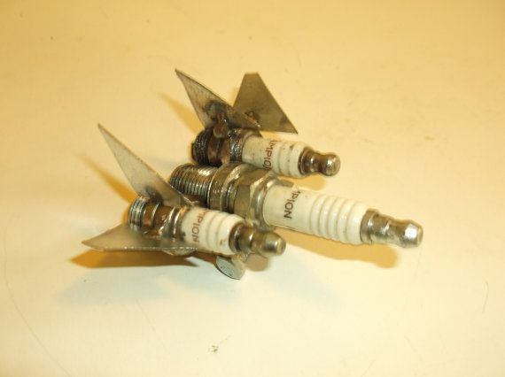 Blackbird Jet Bomber Sparkplug Art by Creationswelded on Etsy, $12.99