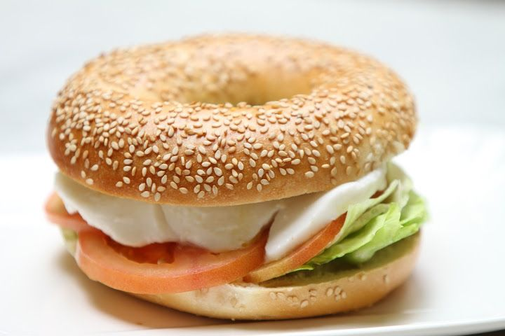 Mediterranean bagel by California Bakery