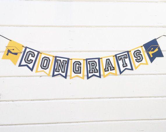 Congrats Banner - Graduation Decorations - Graduation Banners - Graduation Party Decorations - Graduation Decor - Graduation Graduation Party