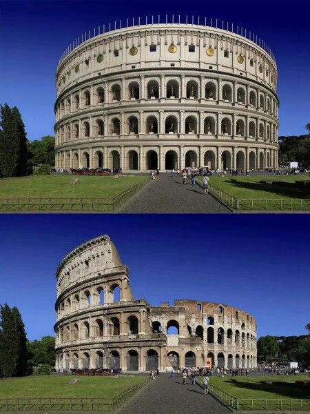 El coliseo romano - Italia