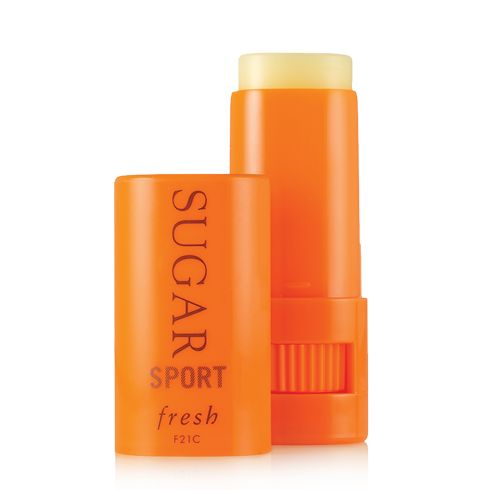 Sugar Sport Treatment Sunscreen SPF 30 moisturizes and provides UV protection for the lips, face, and eye area.