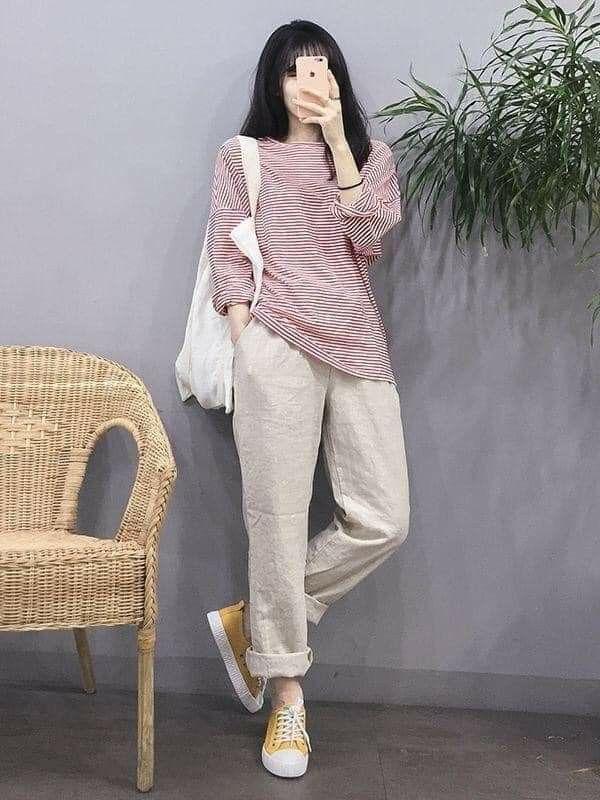 Pin De Frida Rodriguez En Clothing Style En 2020 Moda Coreana Para Chicas Ropa Holgada Ropa Coreana