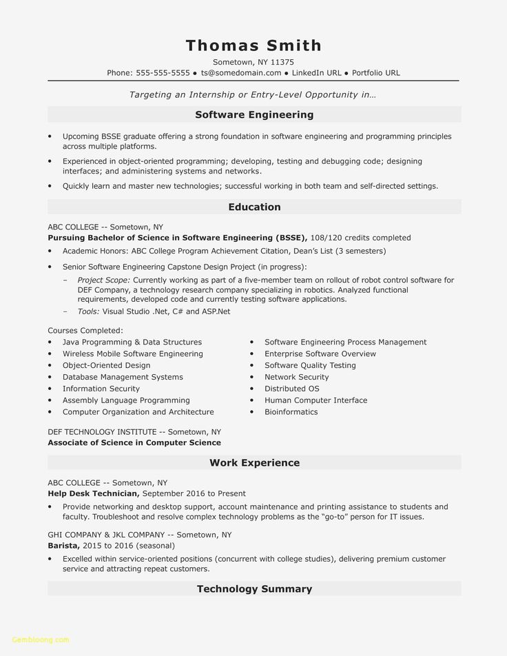 32 Unique Senior software Engineer Resume in 2020