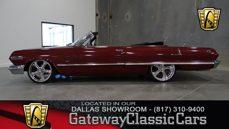 1963 Chevrolet Impala Convertible Stock #14 Gateway Classic Cars Dallas ...