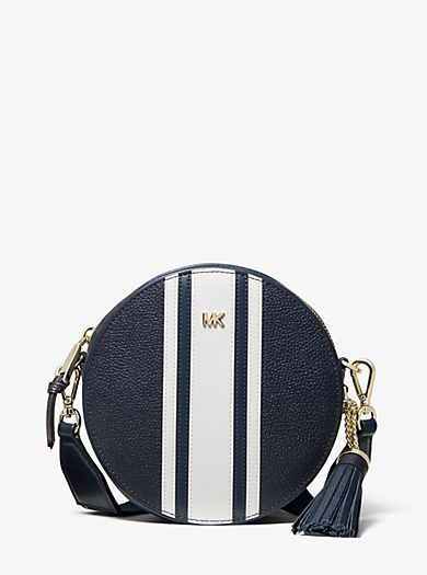 6212cc18f881 ... messenger bags on the official Michael Kors site. Logo Tape Pebbled  Leather Canteen Crossbody
