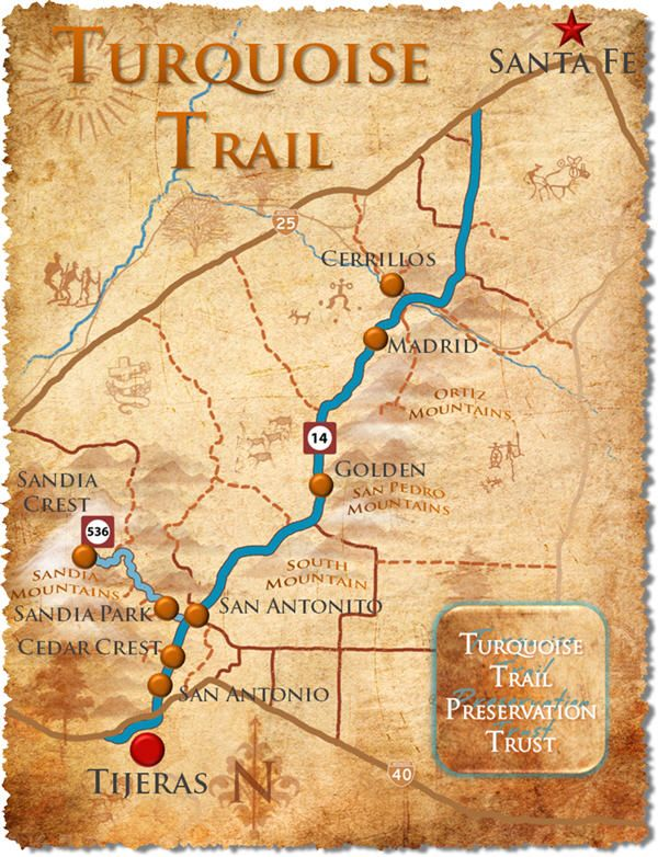 Road Trip Turquoise Trail In New Mexico Santa Fe New - Map of new mexico towns