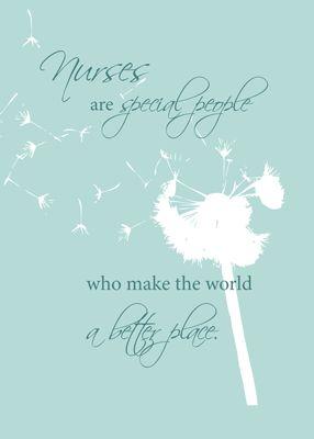 Nurse Dandelion - Send a card to a nurse on Nurses Day. Show your appreciation and thanks.  Nurse's Day - May 6