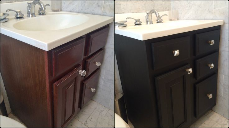 my bathroom vanity before and after i used general. Black Bedroom Furniture Sets. Home Design Ideas