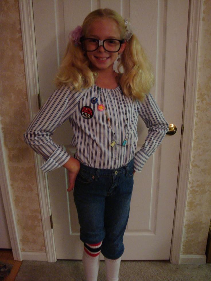 Nerd halloween costume idea home made handmade girls girl ...