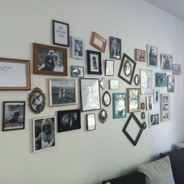 Fotovägg i vardagsrummet!