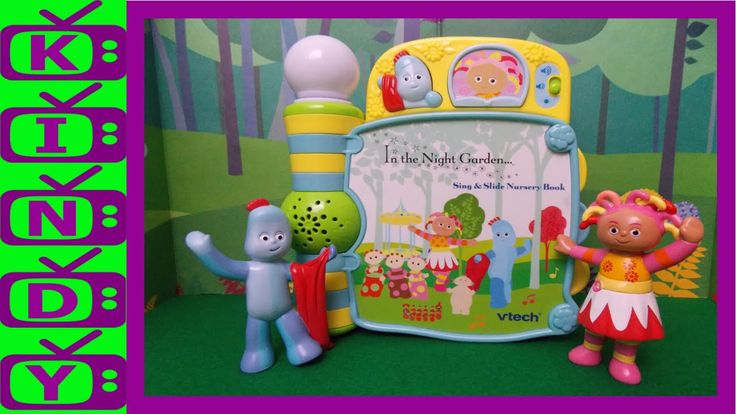 Igglepiggle and Upsy Daisy with the Vtech In The Night Garden Book. In T...