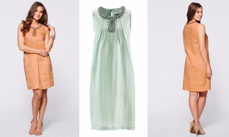 NOVÉ ,,KRÁSNÉ lněné šaty vel.46,52 -2barvy :: AVENTE ...móda s nápadem