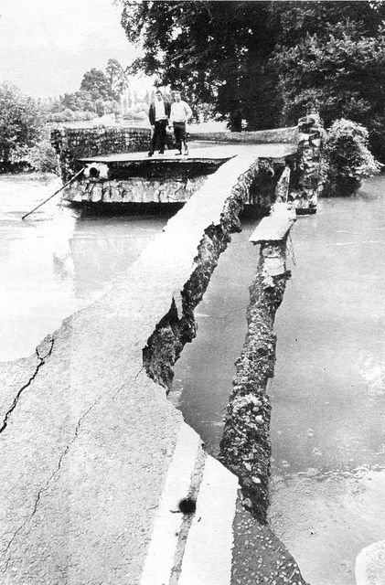 July 1968, All that was left of the historic County Bridge at Keynsham | by brizzle born and bred