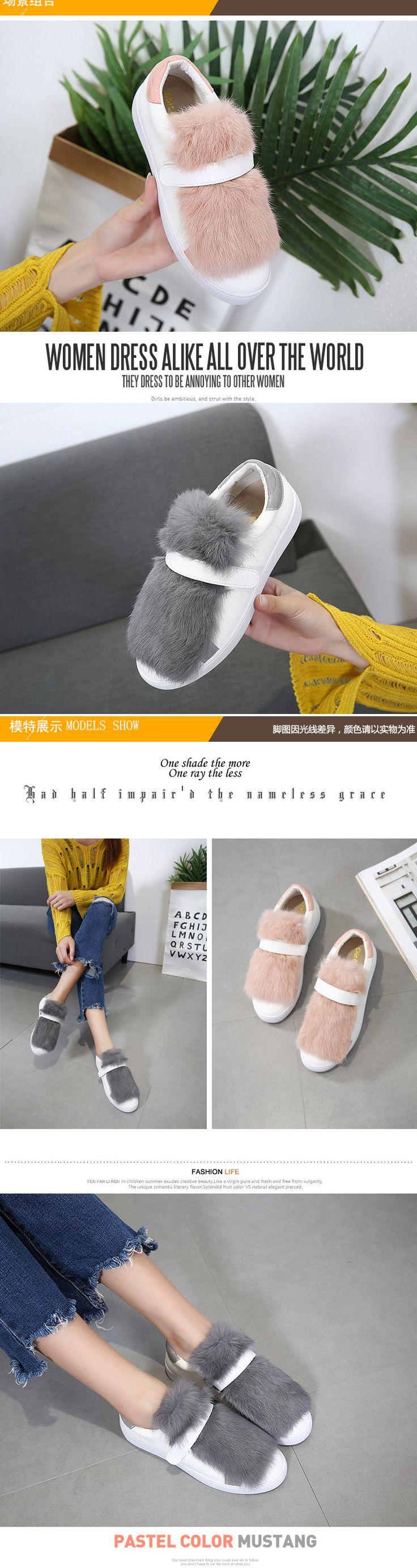2017 Women Natural Rabbit Fur Loafers Platform Slipony Flat Heel Shoes Slip On Brand Designer Furry Flats Fuzzy Ladies Shoe-in Women's Flats from Shoes on Aliexpress.com | Alibaba Group