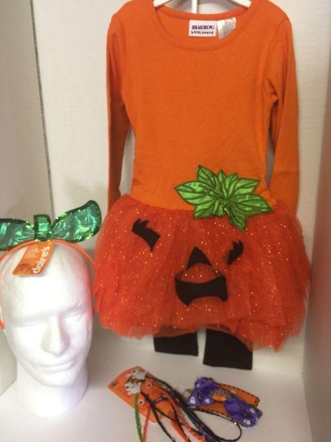 Pumpkin Outfit Toddler Girls 2T Halloween Blueberi Boulevard And Accessories | eBay