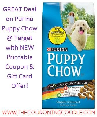 Does Fido need more Food? If so check out this GREAT Deal at Target on Purina Puppy Chow! Save over 50% per bag! You will find the FULL BREAKDOWN and DIRECT Link to the coupons HERE ► http://www.thecouponingcouple.com/purina-puppy-chow-deal-3-23-15/  #Coupons #Couponing #CouponCommunity  Visit us at http://www.thecouponingcouple.com for more great posts!