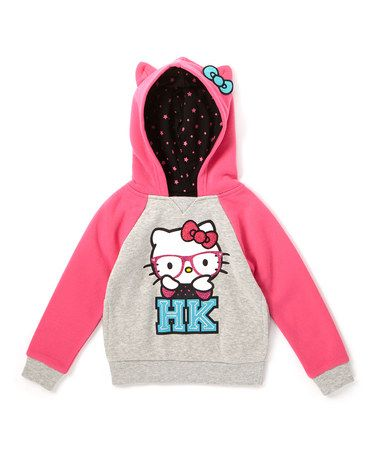 Look what I found on #zulily! Carmine Rose Hello Kitty Pullover Hoodie - Toddler & Girls #zulilyfinds