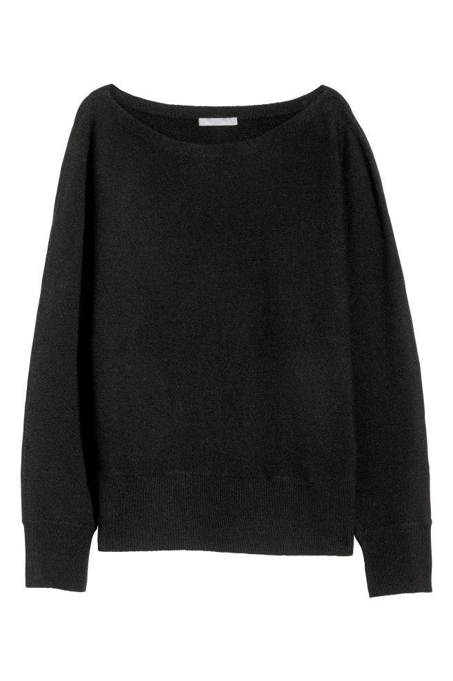 8d5971865af7 Jersey en mezcla de lana en 2019 | ropa normal | Lana negra, Mezcla ...